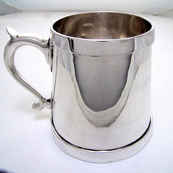 Unknown date or maker Sterling Silver tankard - Silver