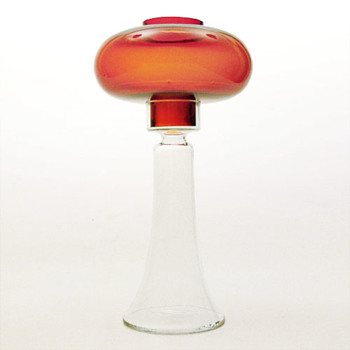 MAJAKKA candle-holder, Nanny Still (Riihimäki Lasi Oy, 1975) - Art Glass
