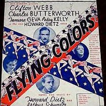 """SMOKIN' REEFERS, RARE sheet music. 1932 From The Show """"FLYING COLORS"""""""