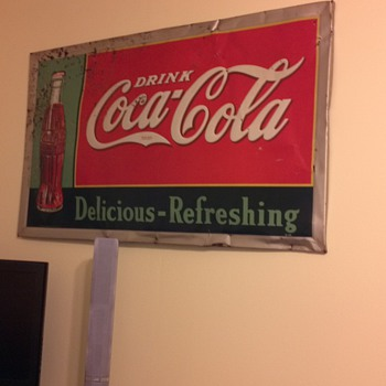 old coke sign  inherited - Coca-Cola