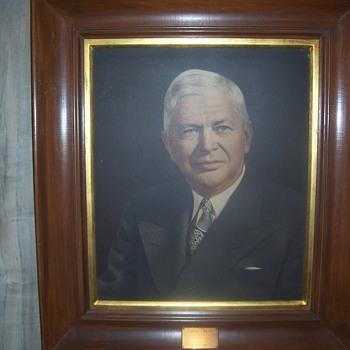 Charles E. Wilson portrait, President of G.M. and former Secretary of Defense