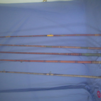 old cane poles and reels