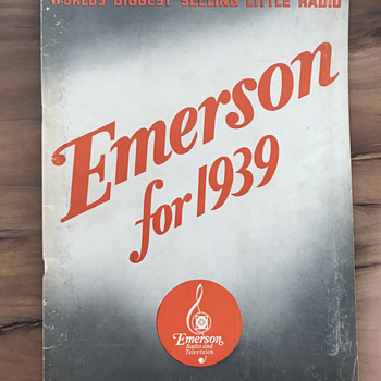 EMERSON RADIO: Original Salesman's Brochure of 1938 Model Year - Radios