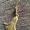 Egyptian revival silver earring