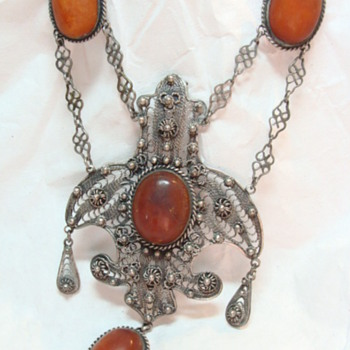 Antique Amber Festoon Necklace - Fine Jewelry
