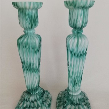 Welz Candlesticks - Art Glass