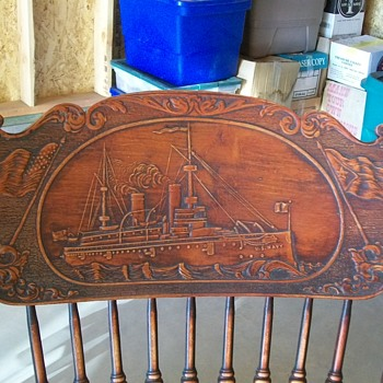 USN Maine Rocking Chair - made early 1900's - Furniture