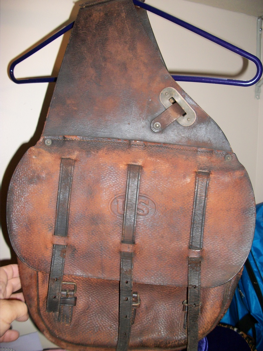U S Stamped Leather Saddle Bags   Collectors Weekly