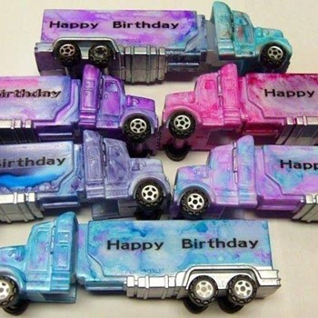 Altered PEZ Dispensers...Tractor Trailers - Toys