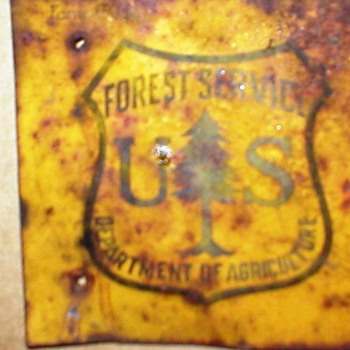 UPDATE ON VINTAGE FOREST SERVICE SIGN