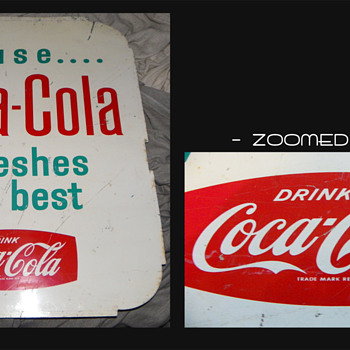 Coca Cola Tin sign 1960s? Need help
