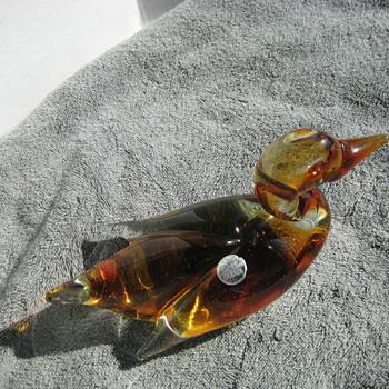 Canadian art glass duck - Art Glass