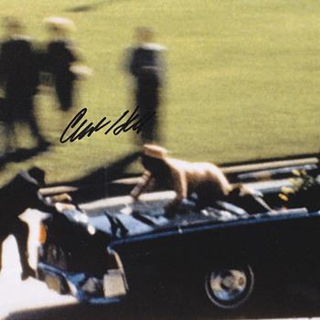 JFK Assassination Photo  .  .  .  Clint Hill Signed - Advertising