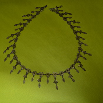 Vintage or antique fringe necklace - Costume Jewelry