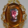 Glass Cameo, Brooch/Pendant, Celebrity Brand, New-York, Circa 1970