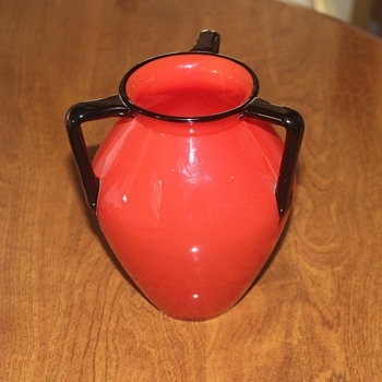 Loetz Three Handled Red Vase - Art Glass