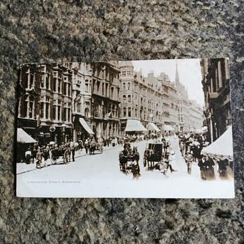 Old birmingham in 1902-corporation Street.  - Postcards