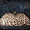 1950's Faux Leopard Skin Handbag 'DAY SOL'