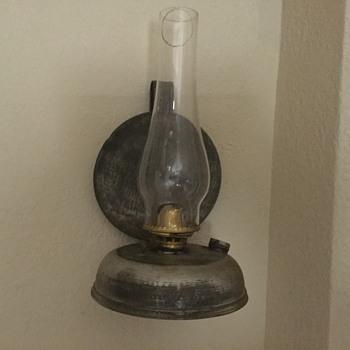 Kerosene wall  lamp with reflector - Lamps