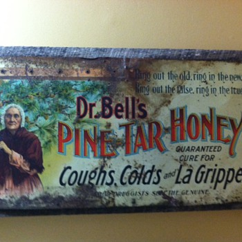 Dr. Bells Pine Tar Honey sign