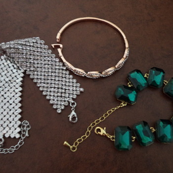 Three Bracelets, One Rhinstone