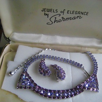 Sherman Necklace and Earrings - Costume Jewelry