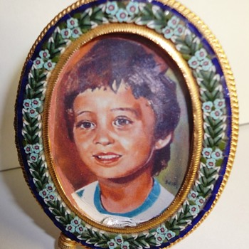 Micro Mosaic small photo frame - Fine Jewelry