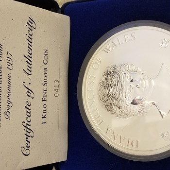 Diana princess of Wales commemorative coin 1997 - Politics