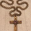 Lovely Hobe Gold and Purple Cross