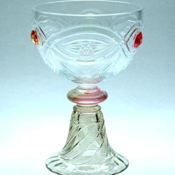 rare  footed glass by emile gallé - Art Glass