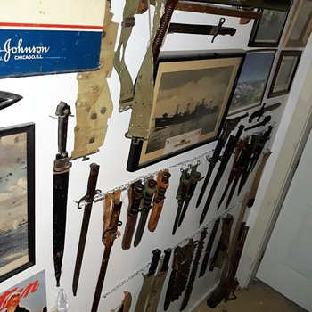 My New Improved Military Wall Mostly Bayonets - Military and Wartime