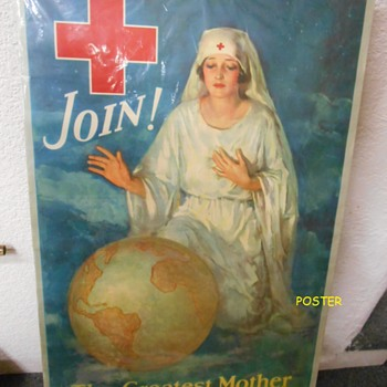 WW I-era Red Cross Poster~dating help possible? - Posters and Prints