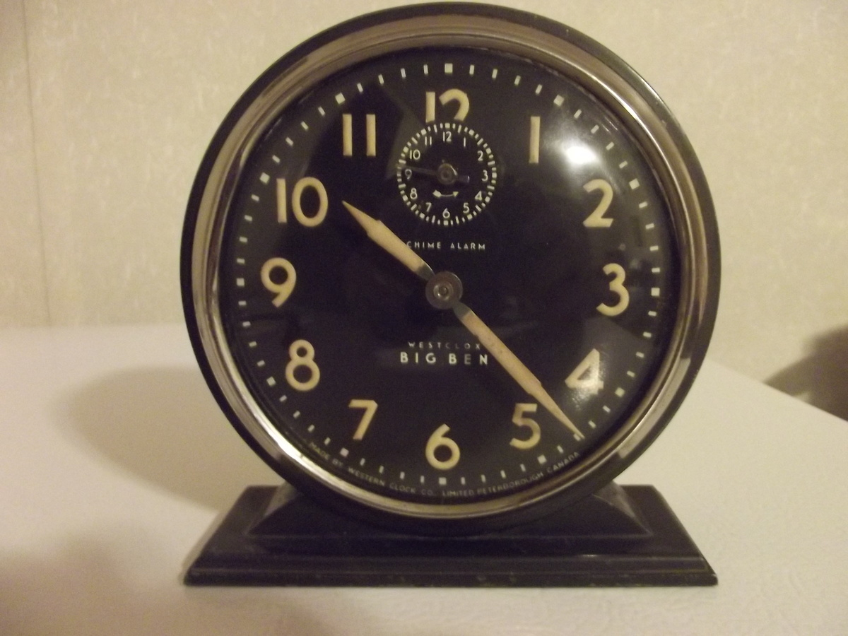 Big Ben Chime Westclox Alarm Rd 1931 Western Clock