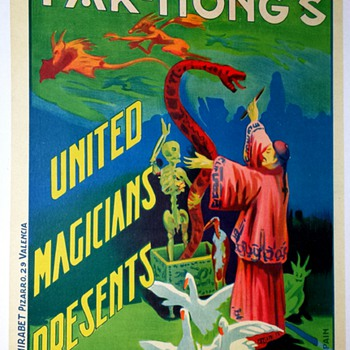 "Original Fak Hong ""Bhuda"" Stone Lithograph Poster - Posters and Prints"