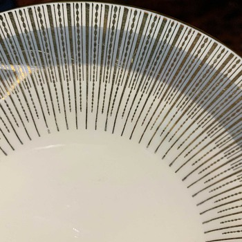 Cool Midcentury Plate by Scherzer, Bavaria, Germany - China and Dinnerware