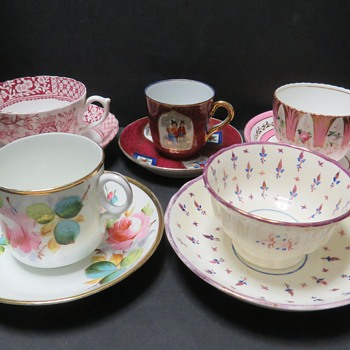 Interesting Lot of Antique and Vintage Teacups and Saucers - China and Dinnerware
