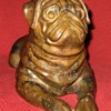 Pierre Chenet Bronze Pug Sculpture Signed