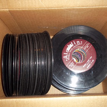 Box of 45's - Records