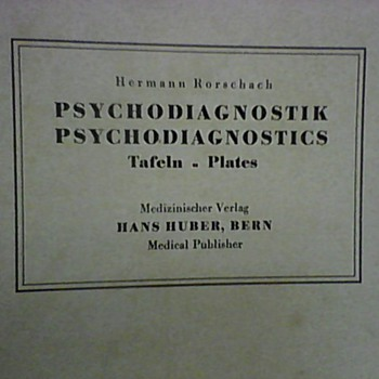 HERMAN RORSCHACH PSYCHODIAGNOSTIC PLATES 1921/1948 - Posters and Prints