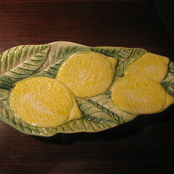 Leaf Dish with Lemons - Pottery