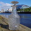 REGENCY CATHEDRAL  CUT GLASS DECANTER WITH STOPPER