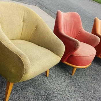 Mid century barrel chair - Furniture