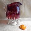 "EAPG Ruby Stained Table Creamer Greensburg Glass Company Ltd. ""Corona"" c1893"