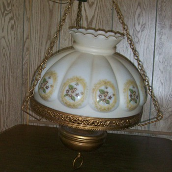Vintage Hanging Parlor Lamp?? - Lamps