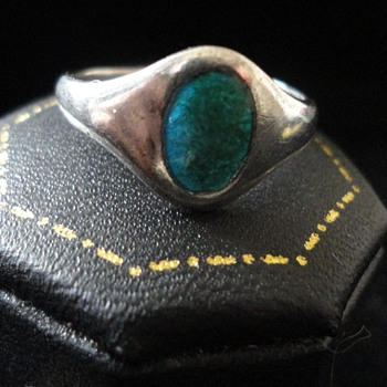 Art Nouveau Silver enamel ring by CHARLES HORNER 1912 - Fine Jewelry