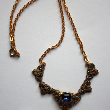 1930s Czech necklace - Costume Jewelry
