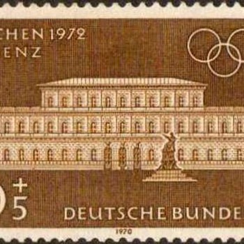 "1970 - W. Germany - ""Olympic Games"" Postage Stamp Series - Stamps"