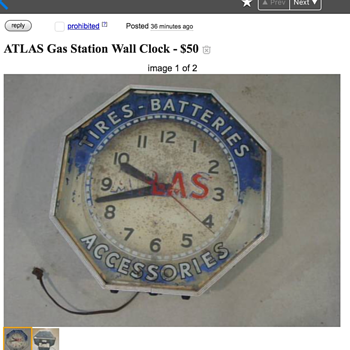 NPI Atlas Clock - Advertising