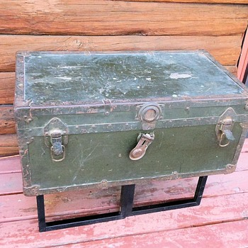 WWII Korea Era US Army Foot Locker Trunk - Furniture