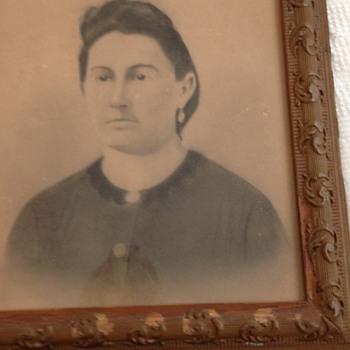 Ancestor Portrait with Antique Frame - Photographs